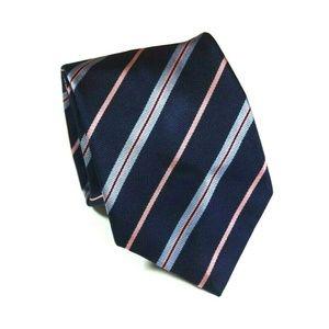 THOMAS PINK 100% Silk Necktie Striped Blue/Pink